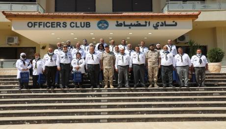 وفد من جمعية الكشافة والمرشدات الأردنية يزور قيادة سلاح الجو الملكي