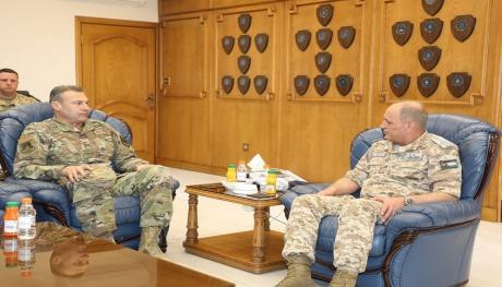 قائد القوات المركزية الامريكية يزور قيادة سلاح الجو الملكي
