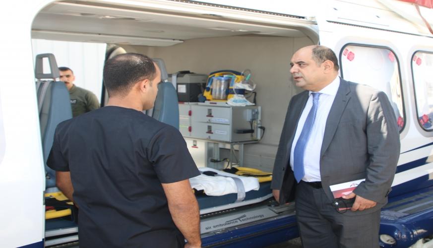 وزير الإقتصاد الرقمي والريادة يزور مركز الإسعاف الجوي الأردني