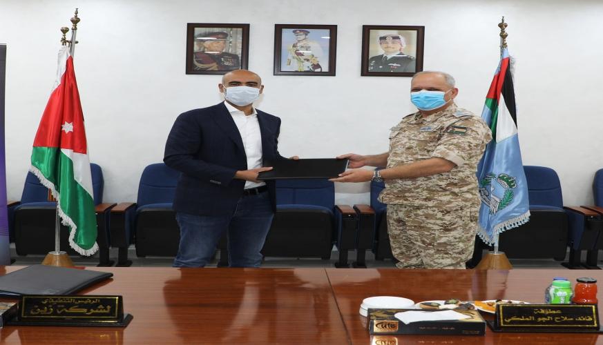 توقيع إتفاقيه بين قيادة سلاح الجو الملكي وشركة زين