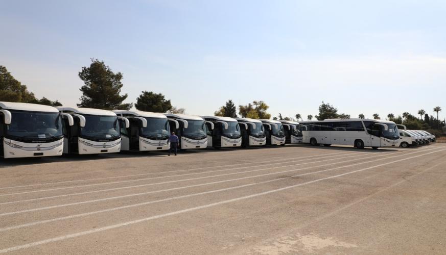 سلاح الجو الملكي يتسلم عدد من الحافلات الجديدة