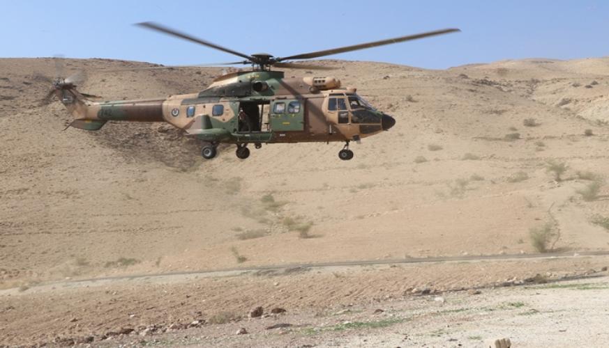 طائرات سلاح الجو الملكي من نوع سوبر بيوما تشارك في عمليات البحث والتفتيش عن المفقودين