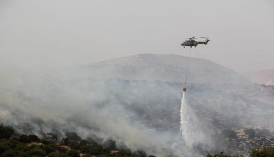 طائرات سلاح الجو الملكي تشارك في اطفاء حرائق واسعة بمحافظة عجلون