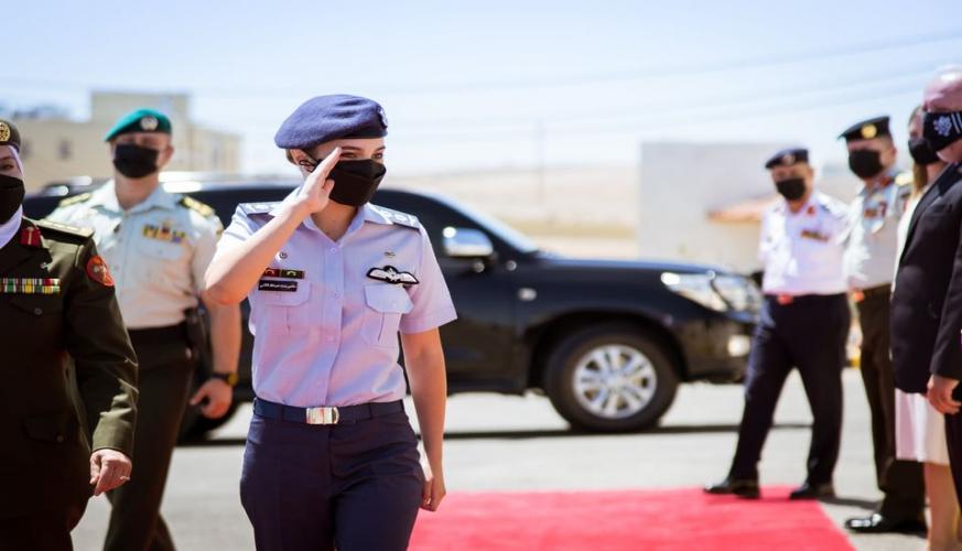 مندوبا عن جلالة الملك، الأميرة سلمى تفتتح مركز تدريب المرأة العسكرية