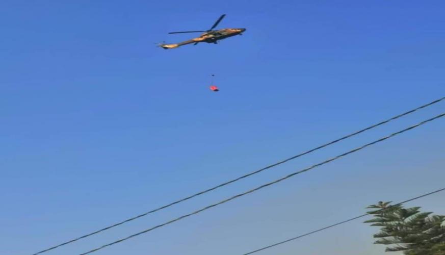 طائرات سلاح الجو الملكي الأردني تشارك في اطفاء حريق ثغرة عصفور