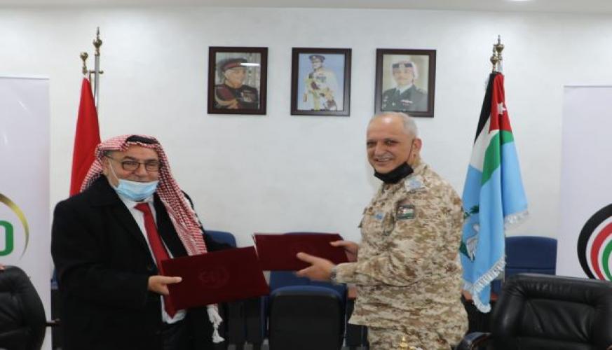 توقيع مذكرة تفاهم بين قيادة سلاح الجو الملكي والجامعة الهاشمية