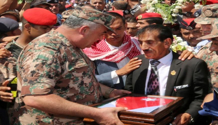 القيادة العامة للقوات المسلحة الأردنية تشيع جثمان الشهيد الملازم أول الطيار الخوالدة