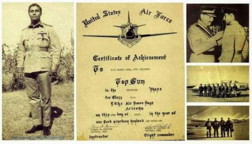الطيار الباكستاني المقاتل البطل سيف الدين أعظم في ذمة الله
