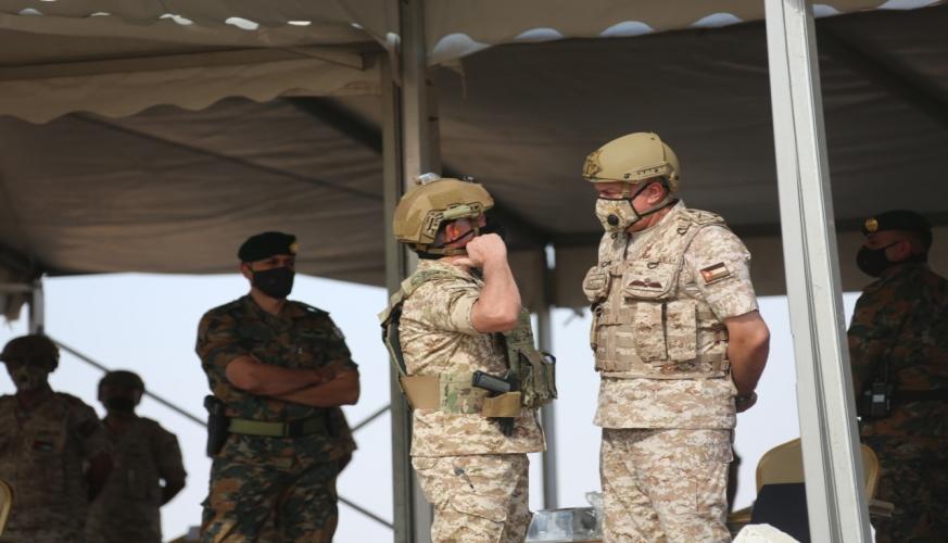 جلالة الملك يتابع مجريات التمرين التعبوي قلعة صلاح الدين في المنطقة العسكرية الشرقية